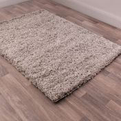 Indulgence Silver Plain Shaggy Rug By Ultimate Rug