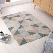 Urban Triangle Blue Rug by Flair Rugs