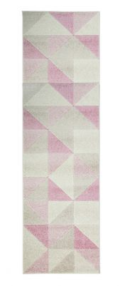 Urban Triangle Blush Pink Runner by Flair Rugs