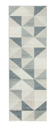 Urban Triangle Grey Runner by Flair Rugs
