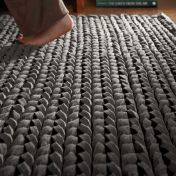 Urbane Grey Thick Pile Braided Wool Rug by Rug Guru