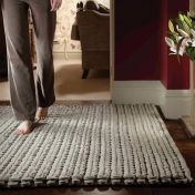 Urbane Grey Whisper Thick Pile Braided Wool Rug by Rug Guru