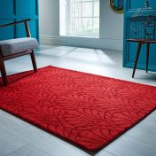 V&A Rhapsody Red Wool Luxmi Rug by Flair Rugs