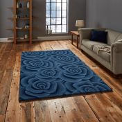Valentine VL-10 Blue Wool Rug by Think Rugs
