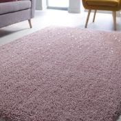 Veloce Blush Pink Shaggy Rug by Flair Rugs