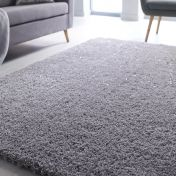 Veloce Silver Shaggy Rug by Flair Rugs