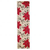 Verona OC15 Beige Red Floral Runner  By Think Rugs