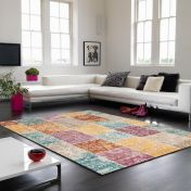 Verve VE05 Multi Chequered Rug By Asiatic