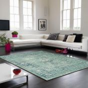 Verve VE10 Blue Floral Rug By Asiatic