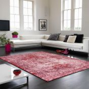 Verve VE11 Red Floral Rug By Asiatic