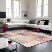 Verve VE03 Multi Chequered Rug By Asiatic
