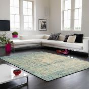 Verve VE07 Blue Floral Rug By Asiatic