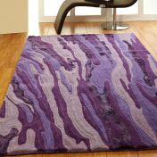 Unique Vibe Abstract Design Wool Rug by Prestige