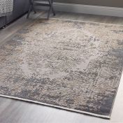 Vintage Medallion Blue Grey Abstract Rug by Origins