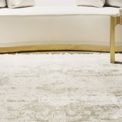 Vintage White Traditional Rug by Katherine Carnaby