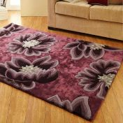 Unique Vintage Floral Design Wool Rug by Prestige