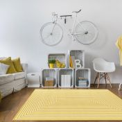 Vitaminic Braid Yellow Geometric Rug By Unique Rugs