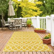 Vitaminic Interlaced Yellow Geometric Rug By Unique Rugs