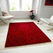 Valentine VL-10 Red Wool Rug By Think Rugs
