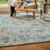 Vogue Blue Ochre Traditional Rug by Origins