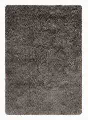 Washable Lavo Charcoal Plain Shaggy Rug by Flair Rugs