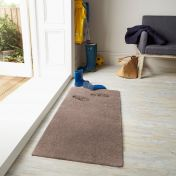 Washable Lavo Mink Plain Shaggy Rug by Flair Rugs
