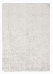 Washable Lavo Silver Plain Shaggy Rug by Flair Rugs