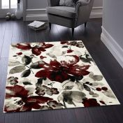 Watercolour Floral Red Rug by Origins