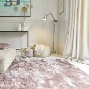 Whisper Pink Shaggy Rug by Asiatic