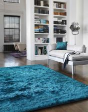Whisper Dark Teal Super soft Shaggy Rug by Asiatic