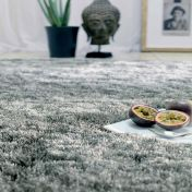 Whisper Tungsten Super soft Shaggy Rug by Asiatic
