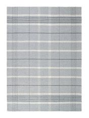 Winnie Grey Natural Chequered Wool Rug by Origins