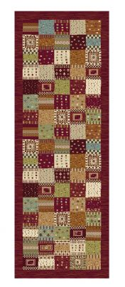 Woodstock 032 0036 8312 Brown Chequered Runner by Mastercraft