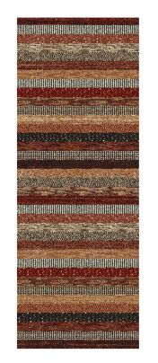 Woodstock 032 0743 1382 Brown Striped Runner By Mastercraft