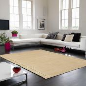 York Beige Simple and Stylish Wool Rug by Asiatic