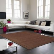 York Chocolate Simple and Stylish Wool Rug by Asiatic