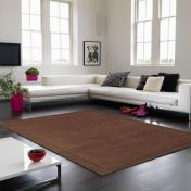 York Chocolate Simple and Stylish Wool Runner by Asiatic