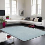 York Duck Egg Simple and Stylish Wool Runner by Asiatic