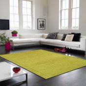 York Green Simple and Stylish Wool Rug by Asiatic