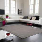 York Grey Wool Runner By Asiatic