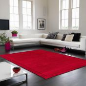 York Poppy Simple and Stylish Wool Rug by Asiatic