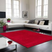 York Poppy Simple and Stylish Wool Runner by Asiatic