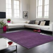 York Purple Simple and Stylish Wool Rug by Asiatic