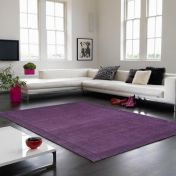 York Purple Simple and Stylish Wool Runner by Asiatic