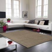 York Taupe Simple and Stylish Wool Rug by Asiatic