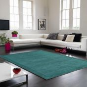 York Teal Simple and Stylish Wool Rug by Asiatic