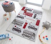 Zest Kids City Buzz Grey Multi Rug by Flair Rugs