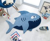 Zest Kids Shark Blue Rug by Flair Rugs